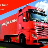 L'efficienza energetica si fa strada!  Dal 20 settembre il truck arancione Viessmann percorre l'Italia per presentare le soluzioni più innovative e fare il punto in tema di agevolazioni fiscali
