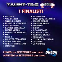 I FINALISTI DI TALENT-TIME 2021 SU ODEON 24