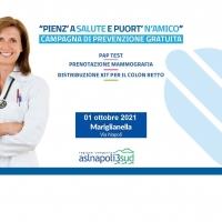 """-Mariglianella, Comune ed Asl Na 3 Sud di nuovo insieme nella campagna di prevenzione sanitaria """"Pienz'a salute""""."""