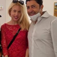Mostra personale di Melanie Francesca presso la storica Milano Art Gallery col manager Salvo Nugnes