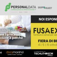 Personal Data e Techlit SCM partecipano insieme a FUSA Expo