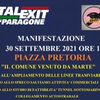 ITALEXIT E FORZA PALERMO PROTESTANO CONTRO L'AMMINISTRAZIONE COMUNALE: