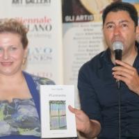 """All'esclusivo Piram Hotel di Roma, Irene Catarella col curatore Salvo Nugnes presenta il nuovo libro, """"#Cantoanima"""""""