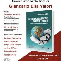 """Il nuovo libro di Giancarlo Elia Valori  """"Intelligenza artificiale tra mito e realtà"""". Presentazione ufficiale il 30 novembre a Roma."""