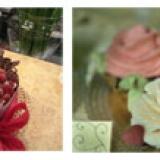 Fichi e fiori nel gelato