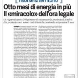 Flavio Cattaneo (Terna): otto mesi di energia in più con l'ora legale.